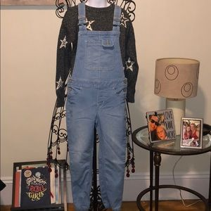 GAP light wash overalls size M